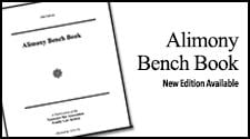 Alimony Bench Book
